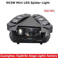 aliexpress com buy 2017 new arrival mini led 9x3w spider light