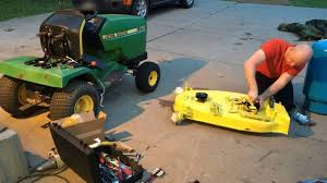 john deere 170 installing mower deck parts time lapse youtube