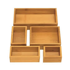 staples desk organizer set seville classics 5 piece bamboo storage box drawer organizer set