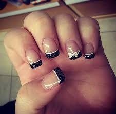 silver glitter french tip nail design fresh set of gel nails i