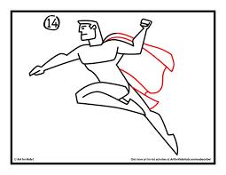 draw superman art kids hub awesome drawings