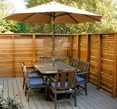 horizontal cedar fence landscape modern with backyard retreat