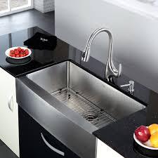 stainless steel kitchen sink combination kraususa com kraus 36 inch farmhouse single bowl stainless steel kitchen sink with kitchen faucet soap dispenser