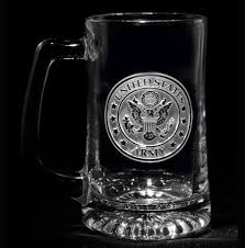 engraved barware army beer mug personalized glasses engraved barware at crystal