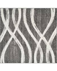 Modern Square Rug Bargains On Safavieh Adirondack Collection Adr125r Charcoal And