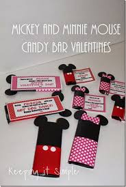mickey mouse minnie mouse candy bar homemade valentines