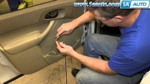 how to install replace front door panel 2000 07 ford focus with