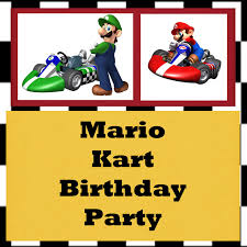 mario invitations gloriously made mario kart birthday party
