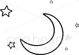 black and white and crescent moon clipart moon