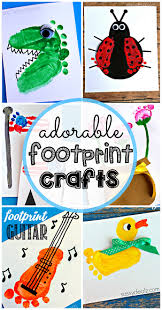 baby footprint ideas adorable footprint crafts for kids to make crafty morning