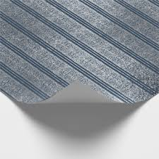 navy blue and silver wrapping paper zazzle