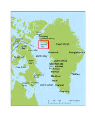 Greenland Map Noaa Ocean Explorer Tracking Narwhals In Greenland