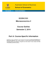 econ2101 microeconomics 2 s2 2014 test assessment