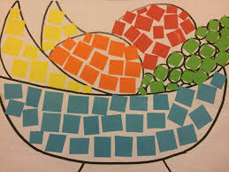 paper mosaic art for stage 1 so simple and adaptable for a huge