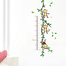 naughty monkey height ruler for child room decor chacopin naughty monkey
