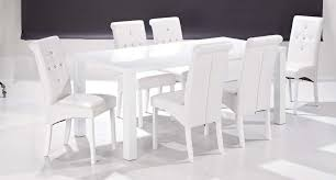 Gloss White Dining Table And Chairs Dining Table With 6 Chairs In Gloss White Blue