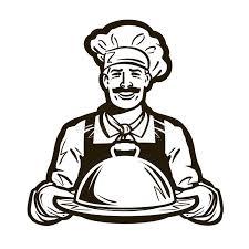 logo chef de cuisine cuisinier logo de vecteur de chef restaurant café ou plat repas