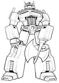 holiday coloring pages optimus coloring pages free printable