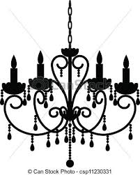 Antique Chandelier Vectors Of Antique Chandelier Silhouette Of Antique Chandelier