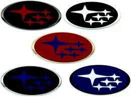 custom subaru emblem subaru stars rear trunk hood grill custom color badge logo emblem