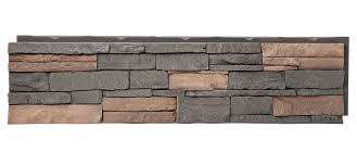 exterior exteria stacked stone ledger stone fireplace faux
