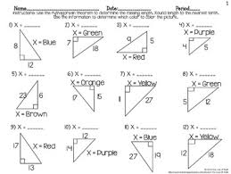 pythagorean theorem color by number cc 8 g 8 number
