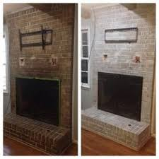 Whitewashing A Fireplace before and after white washed brick ideas pinterest white
