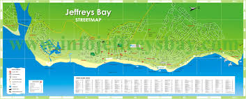 j bay south africa map map jeffreys bay map accommodation tours adventures tourist