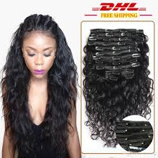 human hair clip in extensions peruvian water wave clip in human hair clip in extensions