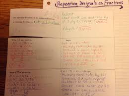 equation freak repeating decimals as fractions and some other