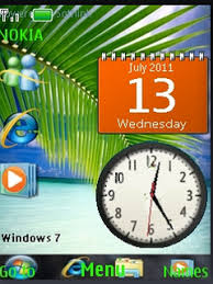 java themes download for mobile download windows 7 clock s40 theme nokia theme mobile toones
