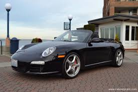 black porsche convertible 2009 porsche 997 2 carrera s cabriolet black on black 6 speed 18k
