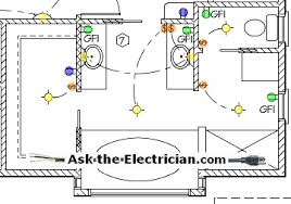Floor Plan With Electrical Layout Bathroom Electrical Wiring