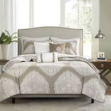 Queen Bed Coverlet Set Madison Park Caroline Taupe Reversible 6 Piece Coverlet Set On