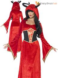 red witch halloween costume ladies demonic devil queen costume sorceress witch fancy dress