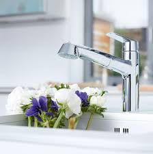 grohe faucet kitchen eurodisc cosmopolitan single handle pull out kitchen faucet