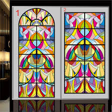 european and american painting art color frosted glass window