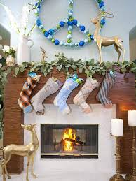 Christmas Decorations In Blue And Brown by Top 40 Christmas Mantelpiece Decorations Ideas Christmas