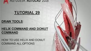 what is the differnece between a spiral and regular perm 29 helix command autocad and donut command autocad difference