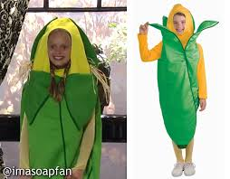 Corn Halloween Costume Josslyn Jacks U0027s Ear Corn Costume General Hospital Season 52