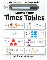 Learn Times Tables Wipe Clean Learn Your Times Tables Iseek Creative