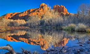 Cathedral Rock Reflections At Sunset Red Rock Crossing Red Rock Crossing In Sedona Arizona Alltrips
