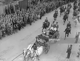 the royal procession passing ludgate hill after the