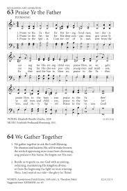Seeking Theme Song Name We Gather Together Hymnary Org