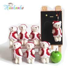 Teddy Bear Christmas Tree Ornaments by Wholesale 50pcs Lot 6cm Mni Joint Teddy Bear Christmas Tree
