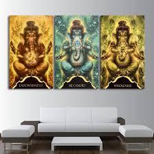 Wall Paintings For Living Room Ganesha Wall Painting Promotion Shop For Promotional Ganesha Wall