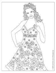 dresses coloring pages 288 free printable coloring pages
