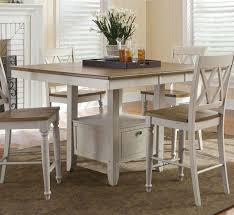 liberty alfresco pedestal counter height table dining room set by