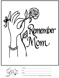 coloring page memorial day mom ginormasource kids