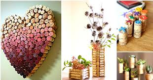 home decorating ideas cheap easy attractive wall decoration in heart shape also flowers vase and pot